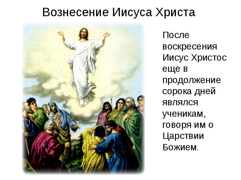 Сколько длилось земная жизнь иисуса после воскресенья